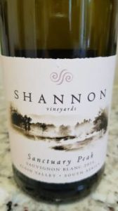 Shannon Vineyards Sanctuary Peak Sauvignon Blanc 2016
