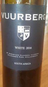 Vuurberg White 2016, Vuurberg White 2016