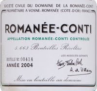 Romanee-Conti. Average price: approachign R200 000 a bottle.