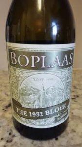 Boplaas The 1932 Block Hanepoot 2015