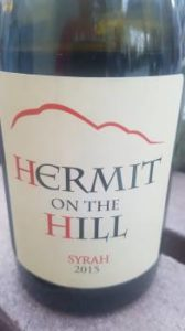 Hermit on the Hill Syrah 2015