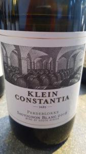 Klein Constantia Perdeblokke Sauvignon Blanc 2016