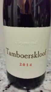 Tamboerskloof Syrah 2014