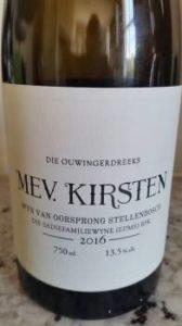 The Old Vine Series Mev. Kirsten 2016, The Old Vine Series Mev. Kirsten 2016