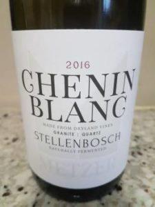 Metzer Family Chenin Blanc 2016