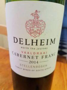 Delheim Vaaldraai Cabernet Franc 2014