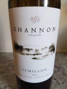 Shannon Vineyards Semillon 2016