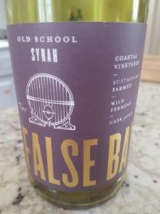 False Bay Old School Syrah 2017