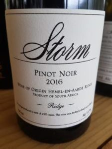 Storm Ridge Pinot Noir 2016