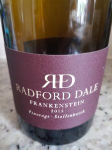 Radford Dale Frankenstein Pinotage 2015