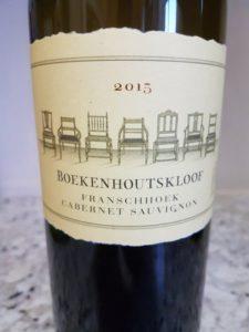 Boekenhoutskloof Franschhoek Cabernet Sauvignon 2015