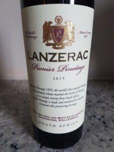 Lanzerac Pionier Pinotage 2015
