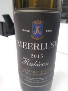 Meerlust Rubicon 2015