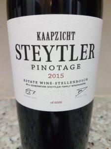 Kaapzicht Steytler Pinotage 2015