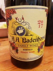A.A. Badenhorst Bokveld Pinot Noir 2017