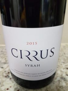 Cirrus Syrah 2015