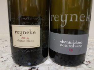 Reyneke Chenin Blanc 2016 vs Reyneke Natural Chenin Blanc 2016