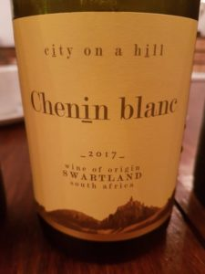 City on a Hill Chenin Blanc 2017