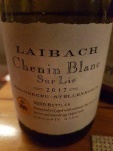 Laibach Chenin Blanc Sur Lie 2017