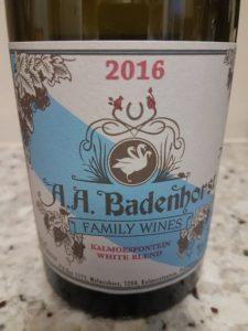 A.A. Badenhorst White 2016
