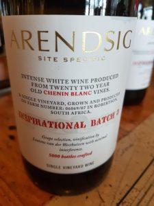 Arendsig Inspirational Batch 3 Chenin Blanc 2017