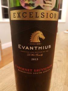 Excelsior Evanthuis Cabernet Sauvignon 2013