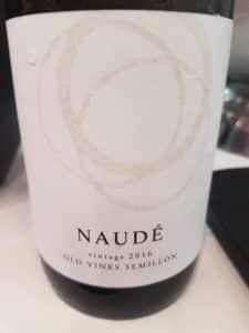 Naudé Old Vines Semillon 2016