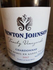 Newton Johnson Family Vineyards Chardonnay 2017
