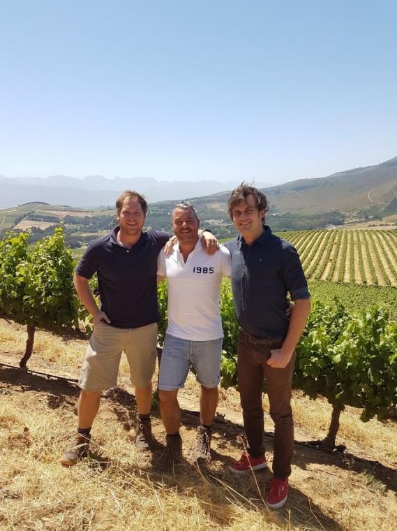 Dirk Coetzee, William Wilkinson and Edo Heyns of AdVini.