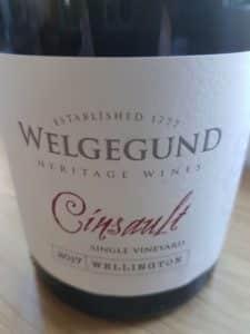 Welgegund Single Vineyard Cinsault 2017