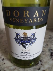 Doran Vineyards Arya 2018