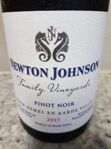 Newton Johnson Family Vineyards Pinot Noir 2017