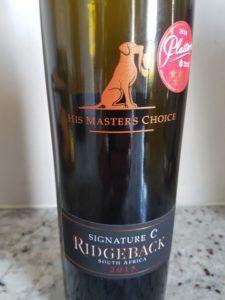 Ridgeback His Master's Choice Signature C 2015