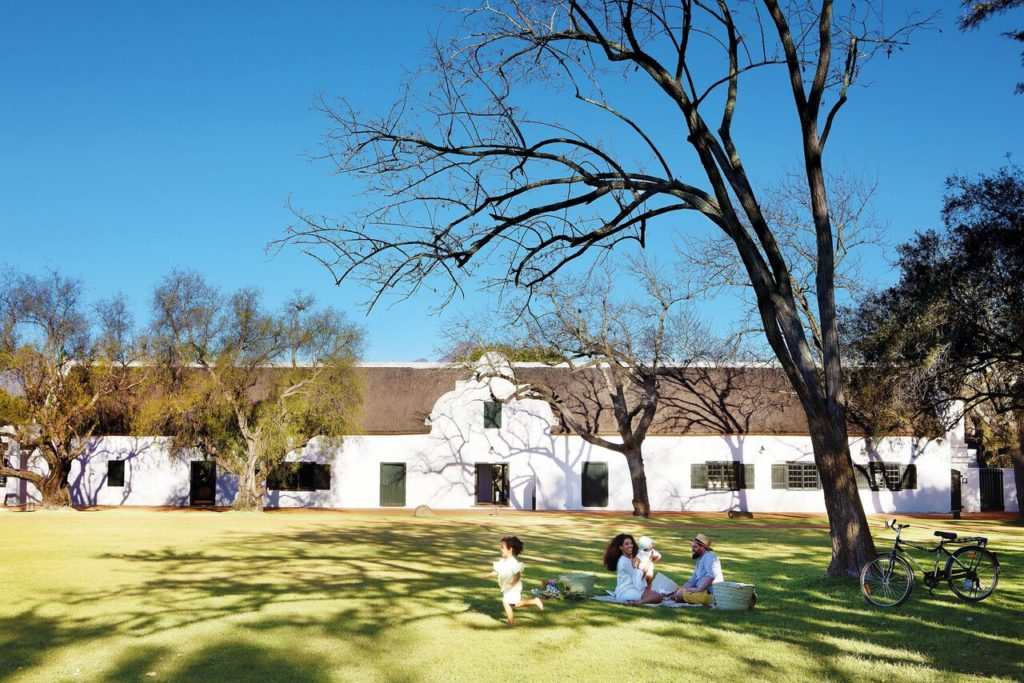 Large shady lawns at Spier makes this the perfect escape for a midsummer picnic.