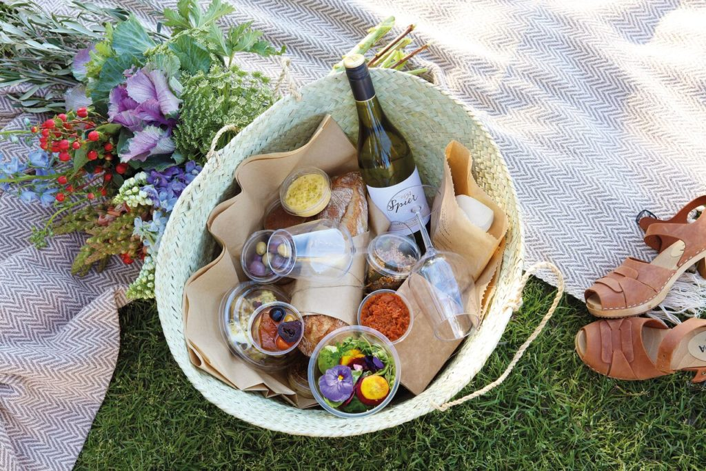 Picnic baskets for two at Spier are what some might say generous.