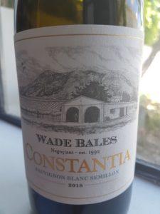 Wade Bales Constantia White 2018