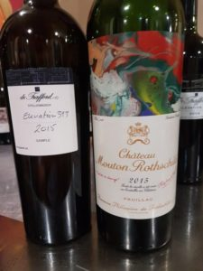 De Trafford Elevation 393 2015 vs Chateau Mouton Rothschild 2015