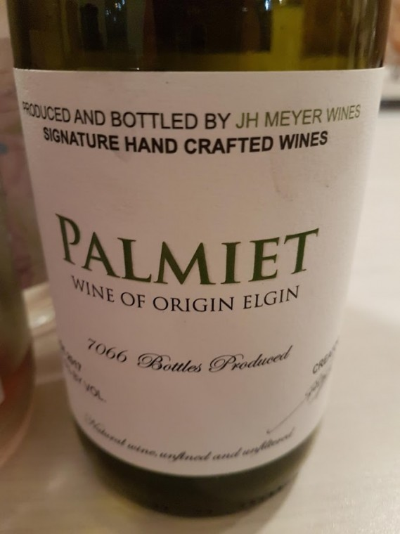 JH Meyer Palmiet Chardonnay 2017