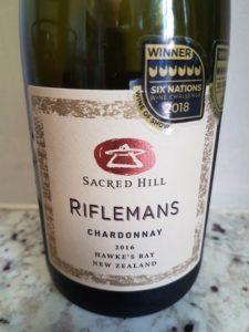 Sacred Hill Riflemans Chardonnay 2016