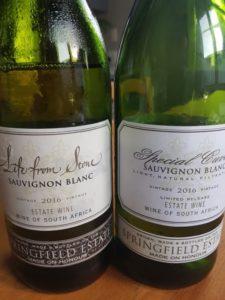 Springfield Life from Stone Sauvignon Blanc 2016 vs Special Cuvee Sauvignon Blanc 2016