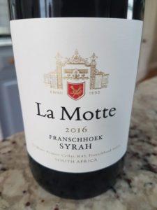 La Motte Franschhoek Syrah 2016
