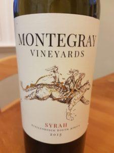 Montegray Vineyards Syrah 2015