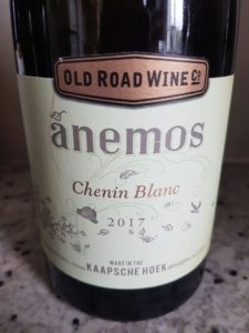 Old Road Wine Co. Anemos Chenin Blanc 2017, Old Road Wine Co. Anemos Chenin Blanc 2017