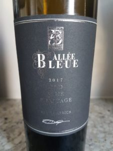 Allee Bleue Black Series Old Vine Pinotage 2017