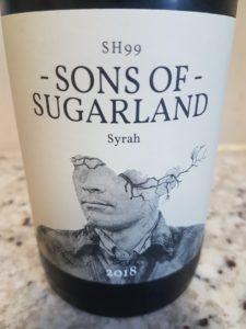 Sons of Sugarland Syrah 2018