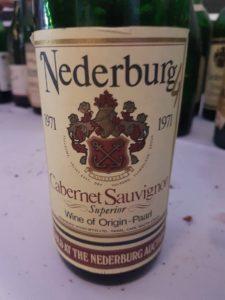 Nederburg Cabernet Sauvignon 1971