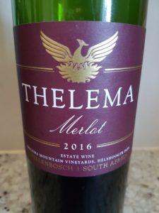 Thelema Merlot 2016