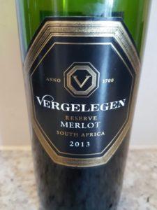 Vergelegen Reserve Merlot 2013