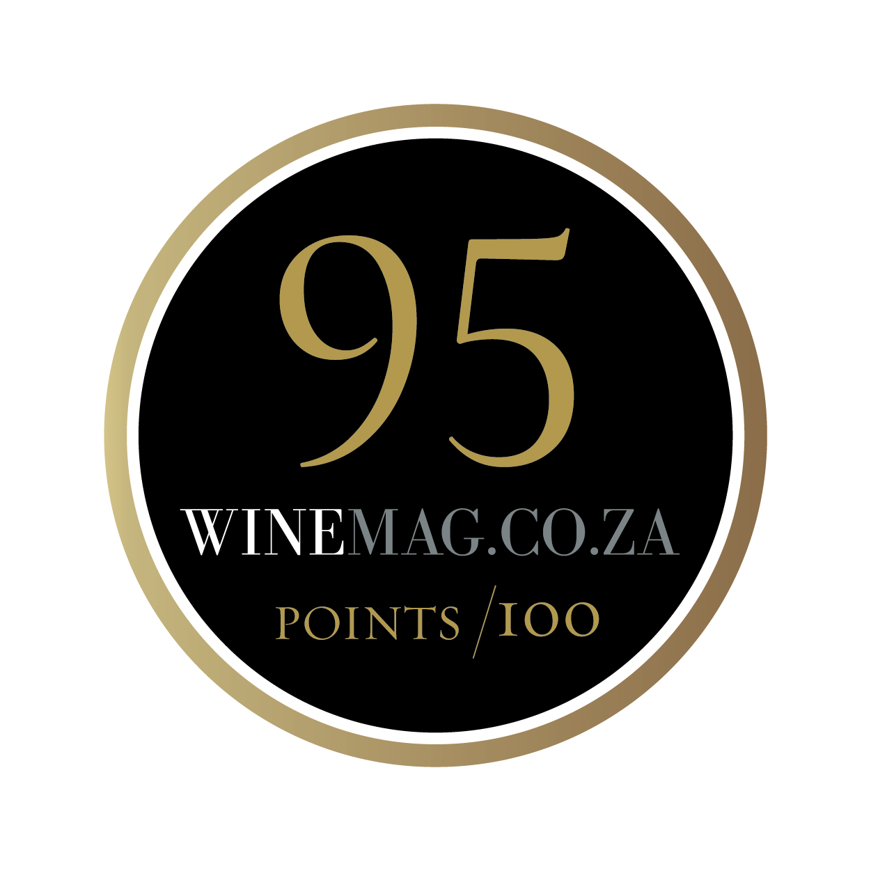 Winemag rating sticker